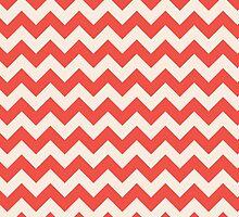 Beautiful Chevron pattern red hot retro by o2creativeNY