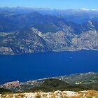 Looking Down On Lake Garda by RedHillDigital