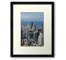 A view of the Windy City Framed Print