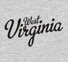 West Virginia Script Black by USAswagg2