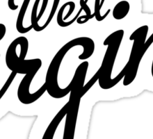 West Virginia Script Black Sticker