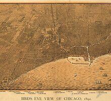 Vintage Pictorial Map of Chicago (1892) by BravuraMedia