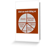 Imaginary Pie Chart Greeting Card