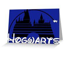 Hogwarts castle (black) Greeting Card