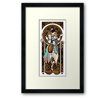 Strongest Woman in the World  (Art Nouveau China) Framed Print