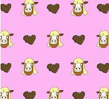Bob's Burgers Moolissa & Poop Hearts by LaurArt