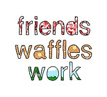 Friends, Waffles, Work Photographic Print