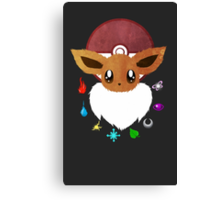 Eevee Elements Canvas Print
