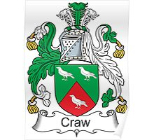 Craw Coat of Arms (Scottish) Poster