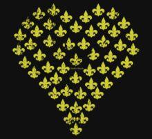 Fleur de Lis Heart (Gold) by StudioBlack