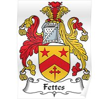 Fettes Coat of Arms (Scottish) Poster
