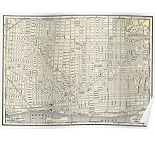 Vintage Map of Detroit (1895) Poster