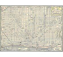 Vintage Map of Detroit (1895) Photographic Print