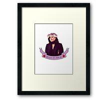 Queen of Sass Framed Print