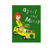 April and Mikey Art Print