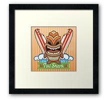 Tiki Shark Framed Print