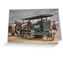 Gun Tractor  Greeting Card