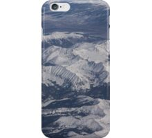 Flying Over the Snow Covered Rocky Mountains iPhone Case/Skin