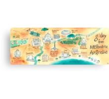 Map of Melbourne, Australia Canvas Print