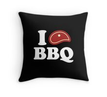 I Love BBQ Throw Pillow