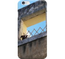 Alfama Dog Looking Out Of A Hole In The Wall iPhone Case/Skin