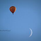 Hot Air Balloons and Moon Crescent by Yannik Hay