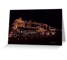 Golden Train Greeting Card