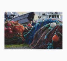 Dutch Harbor Fishing Nets and Boats T-Shirt