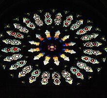 Rose Window at York Minster. by John Dalkin