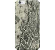 Vintage Pictorial Map of Edgartown MA (1886) iPhone Case/Skin