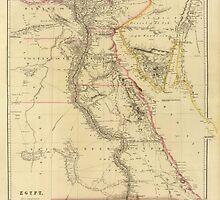 Vintage Map of Egypt (1832)  by BravuraMedia