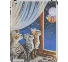 Whimsical Cat Painting -  Moon Tales iPad Case/Skin
