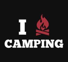 I Love Camping by DesignFactoryD