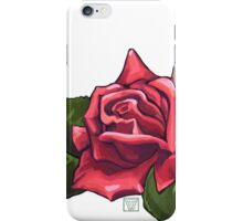 Painted Red Rose iPhone Case/Skin