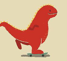 skateboarding t-rex by Tess Smith-Roberts