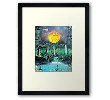 Spray Paint Art- Scorching Sun Framed Print