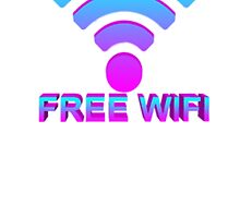 free wifi (stickers/t-shirts/iphone cases) by shopsadness