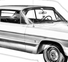 1964 Chevrolet Impala Muscle Car Illustration Sticker