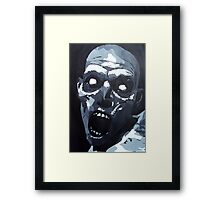Hungry Zombie- Abstract Zombie Painting Framed Print