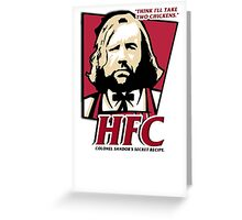 Colonel Sandor: The hound fried chicken (HFC) - Kentucky parody.  Greeting Card