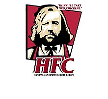 Colonel Sandor: The hound fried chicken (HFC) - Kentucky parody.  Photographic Print