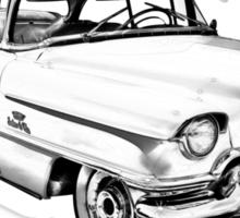 1956 Sedan Deville Cadillac Car Illustration Sticker