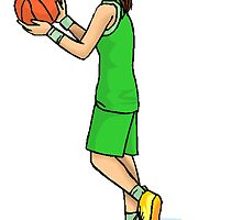 Female Basketball Player by kwg2200