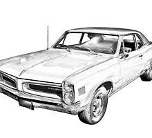1966 Pontiac Lemans Car Illustration by KWJphotoart
