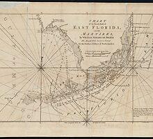 Vintage Map of The Florida Keys (1771) by BravuraMedia