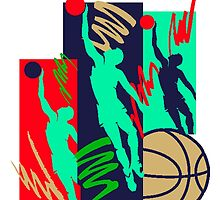 Abstract Basketball Players by kwg2200