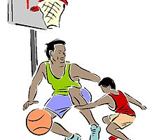 Father And Son Basketball by kwg2200