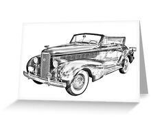 1938 Cadillac Lasalle Illustration Greeting Card