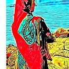 Indian lady by the sea by Carlos Megino