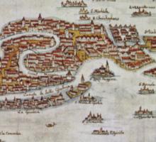 Vintage Map of Venice (1649)  Sticker